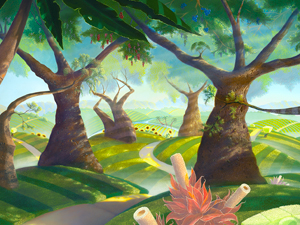 Secret Kingdom 24×48 – ORIGINAL SOLD