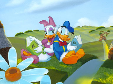 Donald and Daisy Duck – Companionship – ORIGINAL SOLD