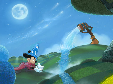 Fantasia Mickey – Filllin' the Stream – ORIGINAL SOLD