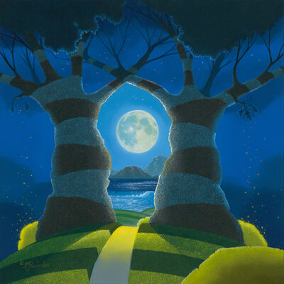 TO THE MOON AND BACK 18x18 (oil on panel) by Michael Provenza