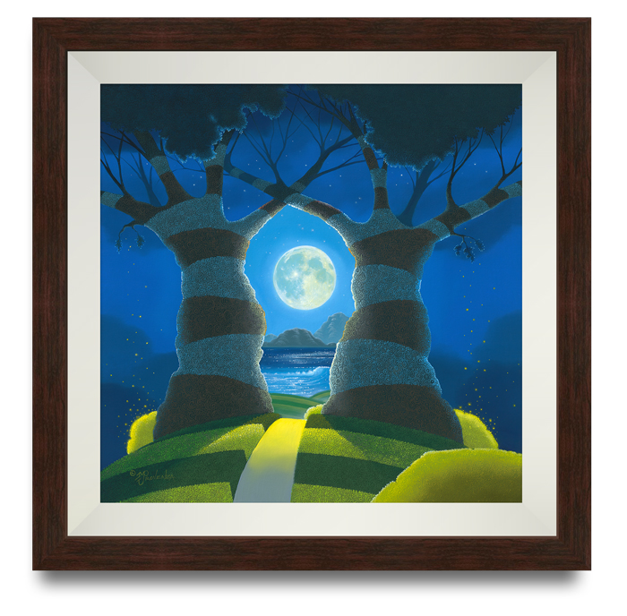 """To the Moon and Back"" 2-component dark wood frame"