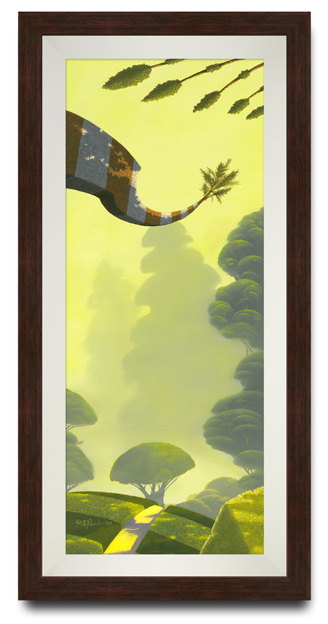 """""""Beyond the Trees"""" by Michael Provenza framed print"""