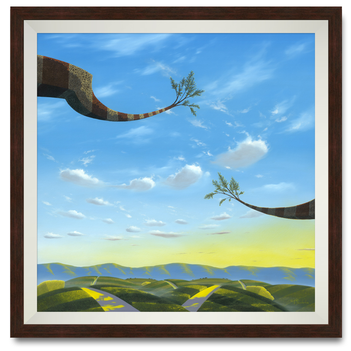 """""""Through Heaven, Earth and Time"""" by Michael Provenza framed"""