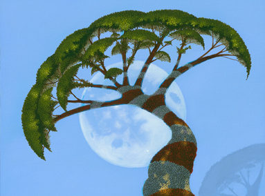 Blue Moon 12×30 – ORIGINAL SOLD