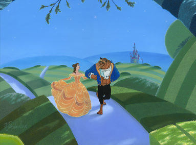 Beauty and the Beast – An Evening Stroll – ORIGINAL SOLD