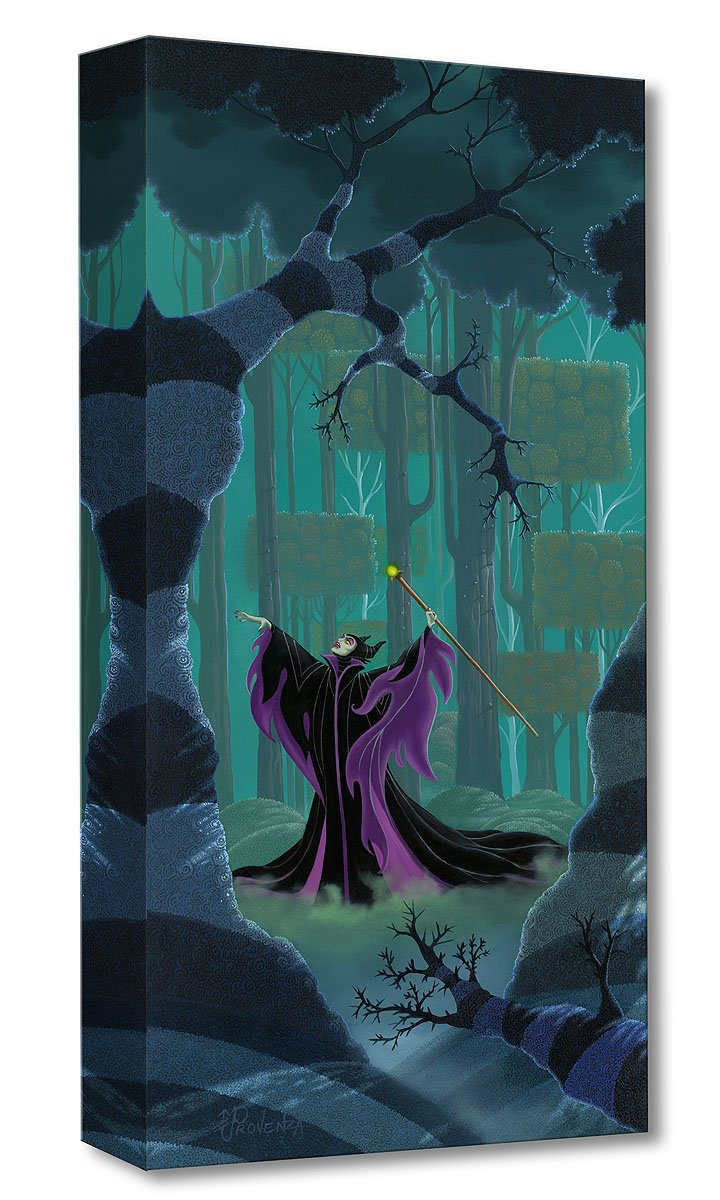 """Maleficent Summons the Power"" 10x20 by Michael Provenza canvas gallery wrap"