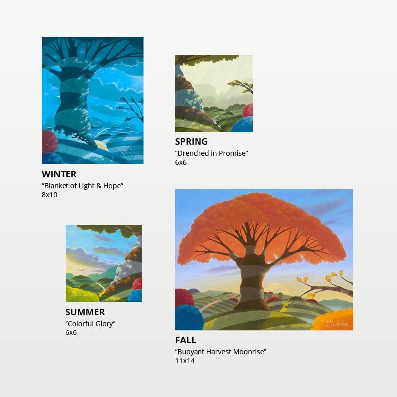 Seasons unframed