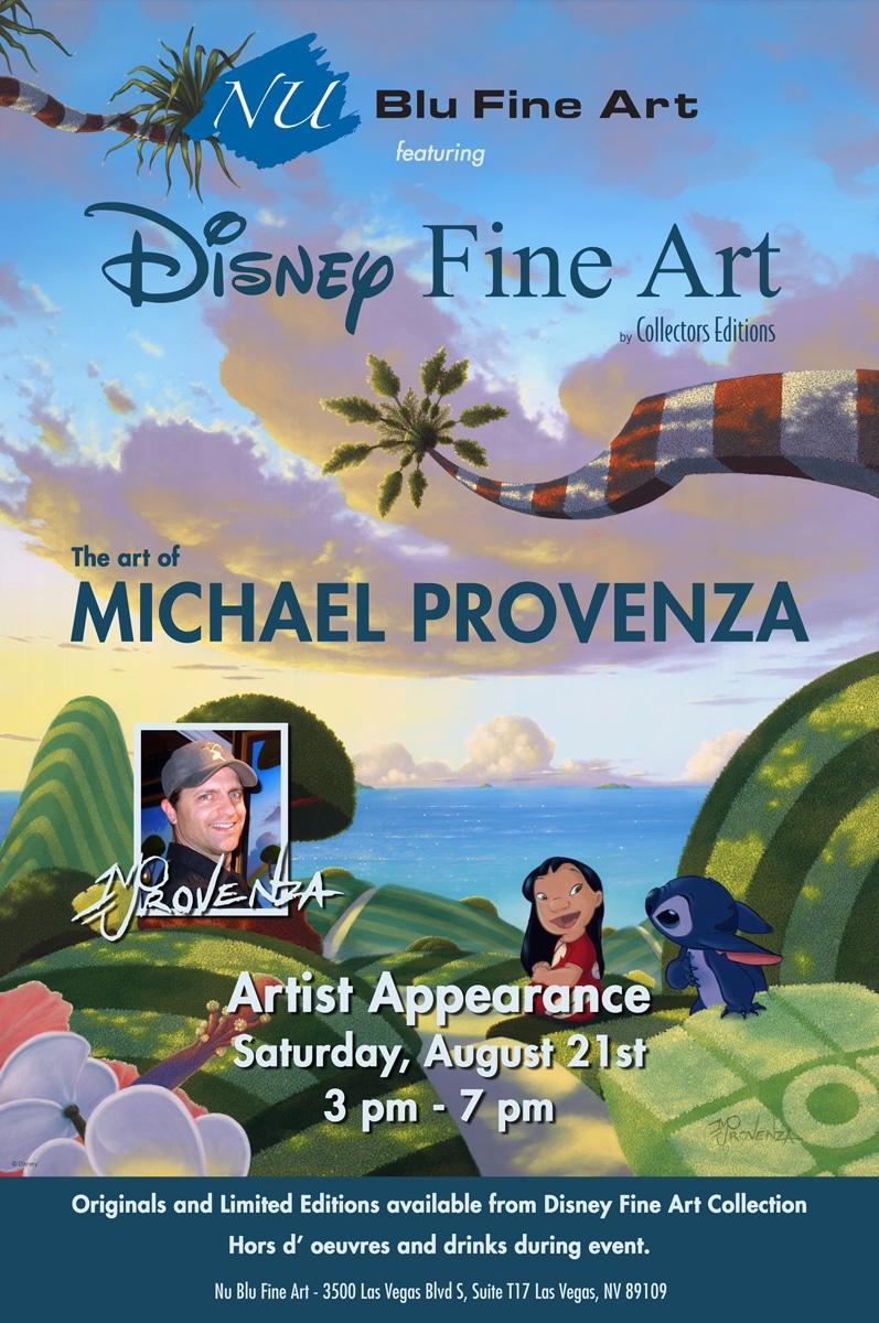 Provenza Disney art show at Nu Blu Fine Art Las Vegas