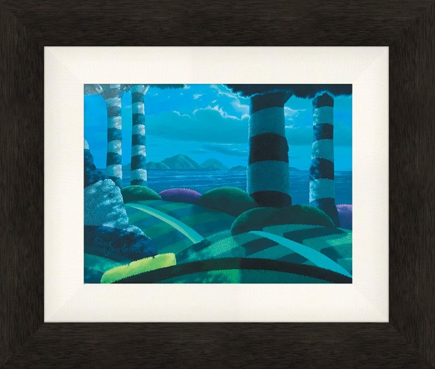 Moonlight Oasis 9x12 original framed